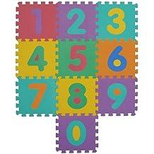 VeloVendo® Alfombra Puzzle Infantiles con Certificado CE & TÜV   Suelo de espuma EVA   Tapete de Juego   Alfombra suave para Bebé   Manta Juegos (Números)