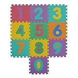 VeloVendo® Alfombra Puzzle Infantiles con Certificado CE & TÜV | Suelo de espuma EVA | Tapete de Juego | Alfombra suave para Bebé | Manta Juegos (Números)
