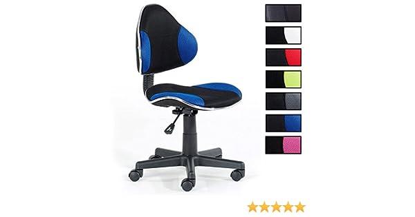 Idimex fauteuil chaise de bureau enfant alondra hauteur réglable
