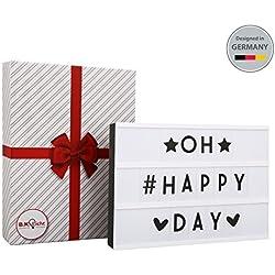 Caja de luz con letras I Lightbox con 90 letras I Regalo San Valentín I
