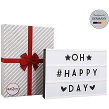 B.K.Licht Lightbox A4 caja de luz cinematográfica con 90 letras Combinación libre para la boda, hogar, Photoshoots, fiesta de cumpleaños