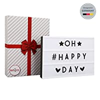 LED Lightbox | Cinematic Light | Cinema Light Box | LED Message Board | Lighting Letters | Birthday Message Board | 90 Letters & Symbols included | USB Input | Size A4 | Gift box