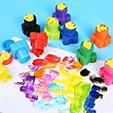 Vibgyor Products Colors Washable Finger Paint for Toddlers, Kids Paint with Stamp, Eco-Friendly & Non Toxic, 25ml Each, Multicolor Set of 5
