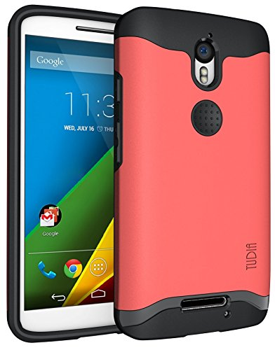 Motorola Droid Turbo 2 (Verizon) / Moto X Force (2015) Hülle, TUDIA Slim-Fit Merge Dual Layer Schutzhülle für Motorola Droid Turbo 2 (Verizon) / Moto X Force (2015) (Rose)