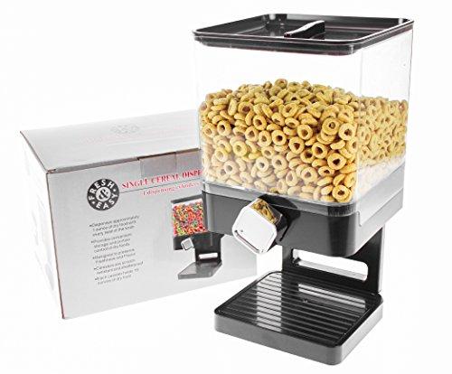 United Entertainment - Müslispender / Cerealienspender / Cornflakesspender / Einzelspender für Müsli, Cornflakes und Cerealien - Schwarz Luxury