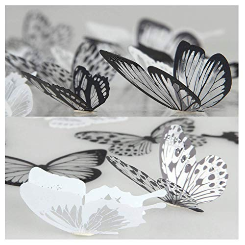 36 piezas 3D Etiqueta pared mariposa Muebles bricolaje
