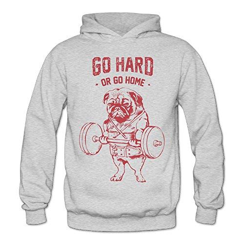 (Alipapa Frauen 'S Go Hard Hund Gewichtheben Bodybuilding Kapuzen Sweatshirt Esche)