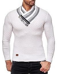 Redbridge Pull en tricot à grosses mailles pour homme