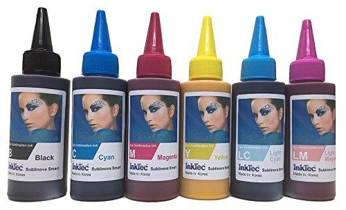 600ml Dye Sublimation Tinte, 6Farbe, je 100ml BK, C, M, Y, LC, LM-Inktec Marke. -