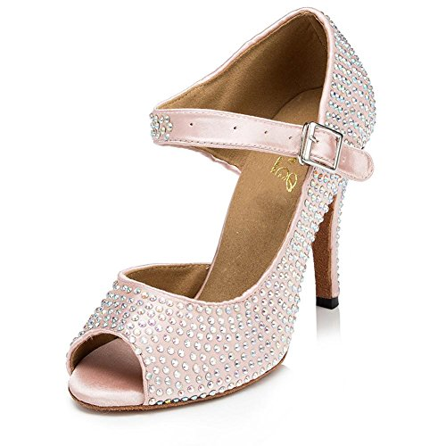 Sandali Primavera ballo casual rosa con punta aperta con stringhe per donna b5jOIt