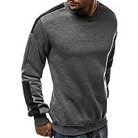 Hombres Sudadera De Retazos De Cuello Redondo Casual Camisa De Deporte Jersey Pullover Camiseta Blusa Tops M-3XL