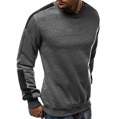 Männer Fleece Gym Running Sweatshirt Lässige Sport Shirt Pullover Pullover Tops Grau 3XL Fleece Running Sweatshirt