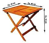 Gartentisch Akazie Holztisch Beistelltisch Kaffeetisch Klapptisch Balkon Tisch