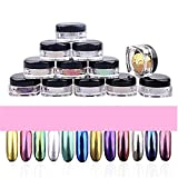 12 colors Chrome Nail Powders holographic Shining Dust - Best Reviews Guide