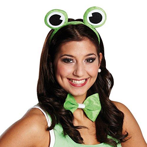 NET TOYS Frosch Kostüm Set Haarreif mit Fliege Froschkönig Haarreifen Froschkönigin Verkleidung (Für Erwachsene Der Frosch Kermit Kostüm)