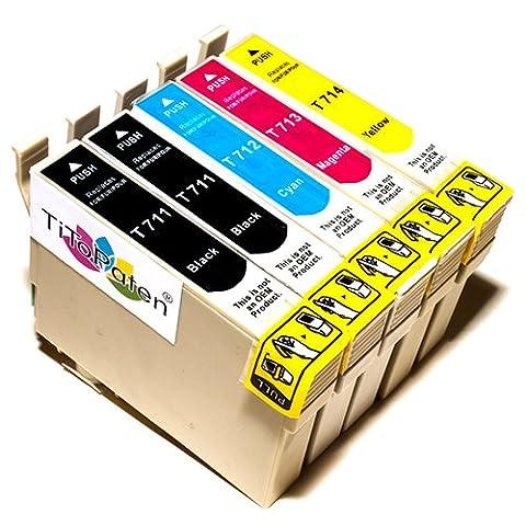 5x Kompatible Druckerpatronen - Ersatz für T0896 - Cyan / Gelb / Magenta / Schwarz- PATRONEN MIT NEUESTEN CHIP - Epson Stylus B40W BX300f BX310FN BX600FW BX610FW D120 Network D78 D92 DX400 DX4000 DX4050 DX4400 DX4450 DX5000 DX5050 DX6000 DX6050 DX6050EN DX7000 DX7000F DX7400 DX7450 DX8000 DX8400 DX8450 DX9400F Wifi Office SX600FW S20 S21 SX100 SX105 SX110 SX115 SX200 SX205 SX210 SX215 SX400 SX405 SX410 SX415 SX510W SX515W