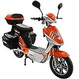 Rolektro eco-City 45 V.2 PLUS Orange-Silber Elektroroller 45 Km/H Straßenverkehrszulassung 500W entnehmbarer Akku