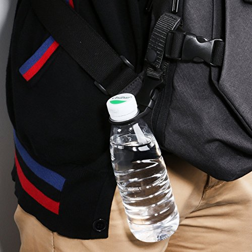 3er Wasserflasche Karabiner Multifunktions im Freien Militärische Taktische Nylongewebe Hängende Rucksack Flaschenhalter (Schwarz)