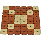Deco Home Bamboo Eco-Friendly Washable Non-Slip Coasters (Brown And Cream, 20x20cm)-Pack Of 3