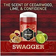 Old Spice Aluminum Free Deodorant for Men, Swagger Lime & Cedarwood Scent, Red Collection - 3 Ou
