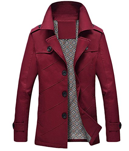 Lorraine Time Herbst Frühling Mantel Trenchcoat Jacke Rot