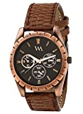 Watch Me Black Dial Brown Leather Watch ...
