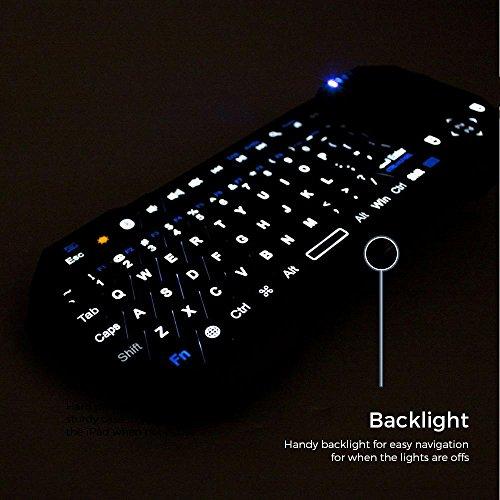 Mini-Bluetooth Funktastatur, COOPER MAGIC WAND universelle, tragbare Funktastatur mit Hintergrundbeleuchtung und Touchpad - 3