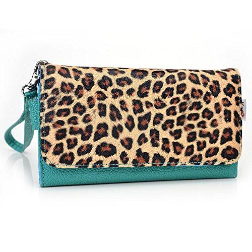 Kroo Housse de transport Dragonne Étui portefeuille pour Nokia X2/Lumia 625/Lumia 730dual sim Violet/motif léopard Emerald Leopard