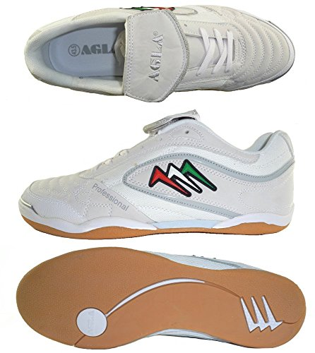 AGLA , Chaussures pour homme spécial foot en salle jaune jaune 27.5 White/white