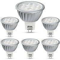 AGOTD LED GU5.3 Lampe 7W MR16 12V Warmweiß,50W Halogenlampe Äquivalent, Hohe Helligkeit, Hohe Kompatibilität,Kein Flimmern,50mm Durchmesser,100% Aluminium,560LM,38 °Deg,GU 5,3 Sockel,2700K,6er Pack