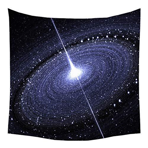 iversum Mond Sterne Raum Yogamatte Picknickdecke Wandteppich 130 x 150 cm(V) ()