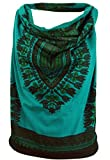 Guru-Shop Goa Top, Dashiki Psytrance Neckholder Top, Damen, Petrol, Baumwolle, Size:M/L (38/40), Tops & T-Shirts Alternative Bekleidung
