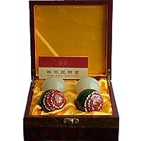 QTZS Chinesische Traditionelle Fitness Ball Dekompression Gesundheit Ball Cloisonne Pfingstrose Hohl Klingelton... preisvergleich bei billige-tabletten.eu