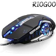 Gaming Maus Professional für Pro Gamer USB Wired 2400 dpi 6 programmierbaren Tasten mit 4 einstellbare DPI Gaming Maus für Pro Spiel Notebook PC Laptop Computer