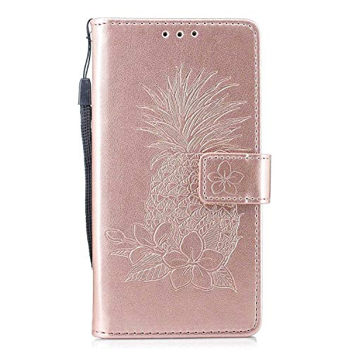 Antiurto Magnetico Cover in PU Pelle GIMTON Cover Sony Xperia XZ1 Blu Custodia di Portafoglio con Slot Carte e Cinturino da Polso per Sony Xperia XZ1