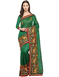 Womanista Synthetic Saree with Blouse Piece