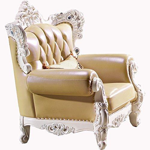Ma Xiaoying echtem Leder und Luxus klassischen Collection 3-teiliges Set (Sofa, Stuhl und Liebesschaukel) hellgelb by MA Xiaoying - 3
