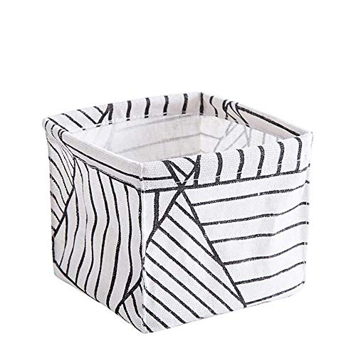 Vektenxi Premium-Qualität Lagerung Stoff Lagerung Würfel Bin Schrank Spielzeug Box Container Organizer Stoff Korb Container Schubladen für Büro, Schrank, Spielzeug, Wäsche, gestreiftes Muster -