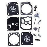 HIPA Kit Joints et Membranes de Carburateur pour Tronçonneuse STIHL MS192T MS192C 020 MS200 # C1Q-S32 C1Q-S61 C1Q-S103 C1Q-S104 C1Q-S124