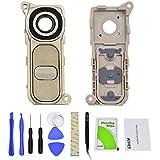 Satisfacción trasera cámara lentes de cristal ring protectora Soporte Incluye Bisel/Marco plana y 2x Tornillos para LG G4H810H811H815H815h815t h815p ls991vs986us99 dorado