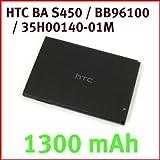HTC BA S450 / BB96100 / 35H00140-01M für HTC 7 Mozart / HTC Desire Z / HTC Vision / HTC A7272 / HTC T8699(1300 mAh)