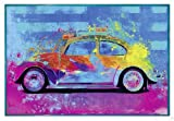 Close Up Splash Buggy Beetle Poster Parker Greenfield (63,5x94 cm) gerahmt in: Rahmen Türkis