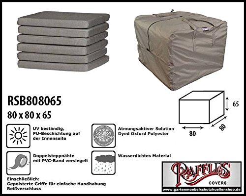 Raffles Covers RSB808065 Kissentasche für Loungemöbelauflagen Aufbewahrungstasche/Cover für...