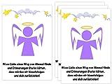 Sternenkind 4 Folien für Grablicht Kerze Trauerkerze Engel