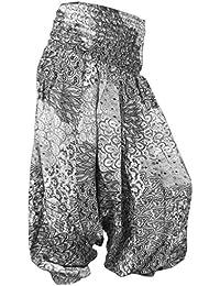 PANASIAM Aladin Pants V-Design, SONDERANGEBOT, kleine Auflage, super Qualität, weicher Naturstoff, farbecht, passt 34 bis 42 (S - L)