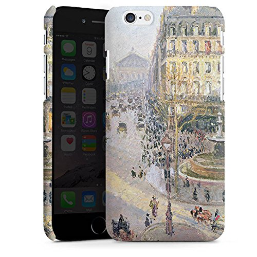 Apple iPhone X Silikon Hülle Case Schutzhülle Camille Pissarro The Avenue de L'Opera Kunst Premium Case matt