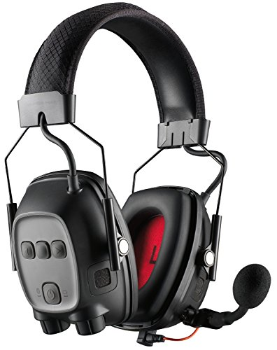 Howard Leight Sync Wireless Impact 10343210 Kommunikations-Gehörschutz mit Bluetooth-Verbindung, Schwarz