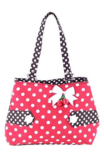 SugarShock Karlotti 50s Polka Dots Kirschen Rockabilly Uniform Tasche Handtasche - 5