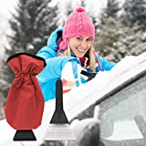 Migimi Autoscheiben Enteisen, Handschuh Eiskratzer, Auto Winter Eiskratzer, Schneeschaufel...