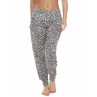 Love My Fashions Womens Pants Trousers Alibaba Harem Ankle Cuff, Small Cheetah Print, Large X-Long